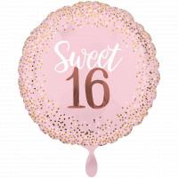Folienballon Jumbo Sweet Sixteen 16. Rosa Geburtstag Ballon