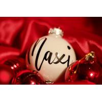 Weihnachtskugel personalisiert mit Wunschname