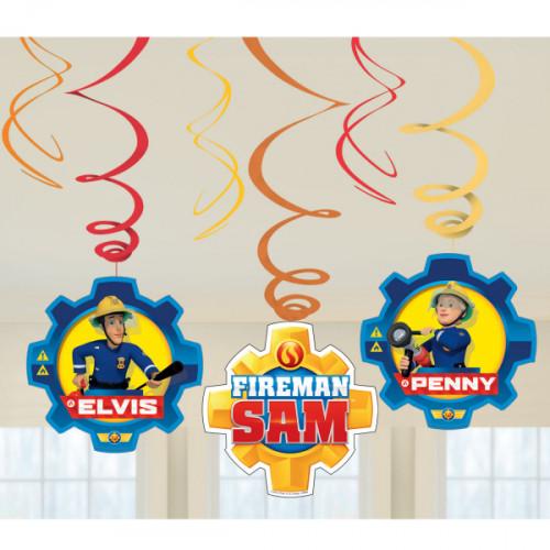 Feuerwehrmann Sam Hängedeko Partydeko Fireman Sam Kindergeburtstag