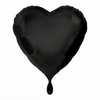 Folienballon Herz Schwarz Art. 00683 Partydeko Ballon Valentinstag Hochzeit