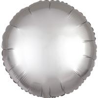 Folienballon Rund Satin Silber Art.36805 Partydeko Ballon Hochzeit