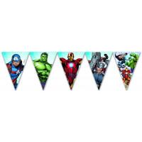 Avengers Wimpel Banner Partydeko Superhelden Kindergeburtstag