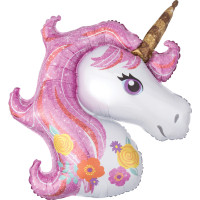 Folienballon Einhorn Pink Partydeko Ballon Geburtstag