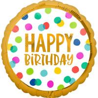 Folienballon Happy Birthday Bunt Art.41001 Partydeko Ballon Geburtstag