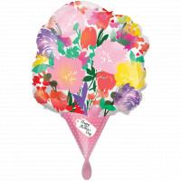 Folienballon Muttertag Blumenstrauß