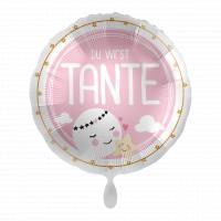 Folienballon Du wirst Tante Babyparty Geburt
