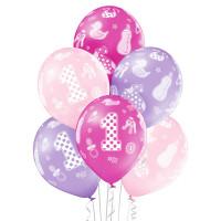 Luftballon 1. Geburtstag Rosa 6 Stück Partydeko Kindergeburtstag