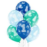 Luftballon 1. Geburtstag Blau 6 Stück Partydeko Kindergeburtstag
