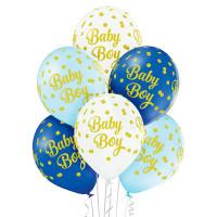 Luftballon Baby Boy Blau Partydeko Babyparty Babyshower Geburt Ballon