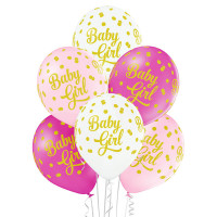 Luftballon Baby Girl Rosa Partydeko Babyparty Babyshower Geburt Ballon