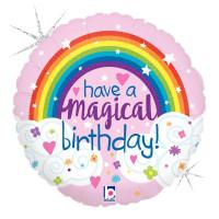 Folienballon Happy Birthday Regenbogen Partydeko Ballon Geburtstag