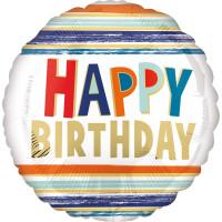 Folienballon Happy Birthday Art. 41280 Partydeko Geburtstag Ballon