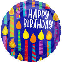 Folienballon Happy Birthday Art. 41789 Partydeko Geburtstag Ballon