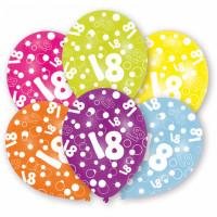Ballon Happy Birthday Zahl 18 Art.996542 Partydeko Geburtstag Luftballons
