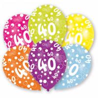 Ballon Happy Birthday Zahl 40 Art.996545 Partydeko Geburtstag Luftballons
