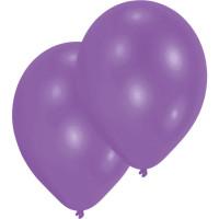 Luftballons Lila Metallic Partydeko Geburtstag Purple 10 Stück