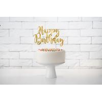Cake Topper Happy Birthday Kuchen Deko Gold Partydeko kaufen