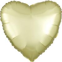 Folienballon Herz Satin Pastell Gelb Partydeko Ballon