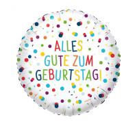 Folienballon Happy Birthday Konfetti Partydeko Geburtstag Ballon