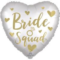 Folienballon Bride Squad zur Hochzeit Partydeko Ballon Just Married