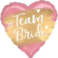 Folienballon Team Bride zur Hochzeit Partydeko Ballon Just Married