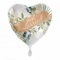 Folienballon Just Married zur Hochzeit Partydeko Ballon Just Married