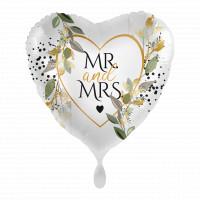 Folienballon Mr. & Mrs. zur Hochzeit Partydeko Ballon Just Married