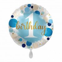 Folienballon 1. Geburtstag Junge Partydeko Ballon