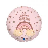 Folienballon Alles Gute zum Geburtstag Regenbogen Partydeko Ballon