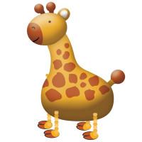 Folienballon Giraffe Airwalker Tiere Ballon Safari