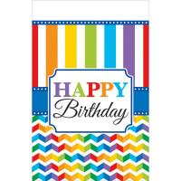 Partydeko Bright Birthday Tischdecke Geburtstag