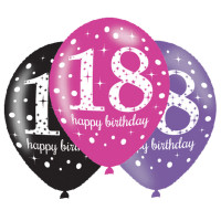 Ballon Happy Birthday Zahl 18 Partydeko Geburtstag Luftballons