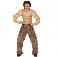 Superhelden Muskel-Shirt Jungen Fasching Karneval