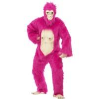 Kostüm Gorilla Deluxe Neon Pink Fasching Affe Karneval