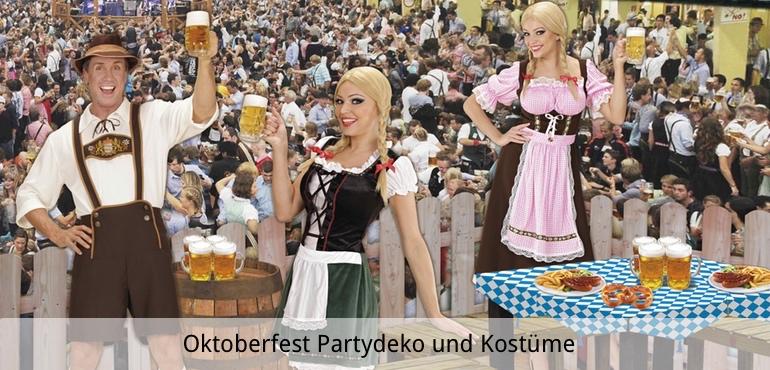 Oktoberfest Partydeko und Kostüme
