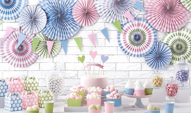 Pastell-Partydeko