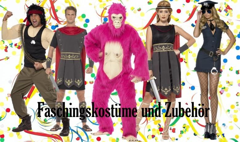 Kostüme und Zubehör zum Fasching oder Karneval